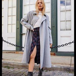 NWT Free People Sierra grey long wool blend coat